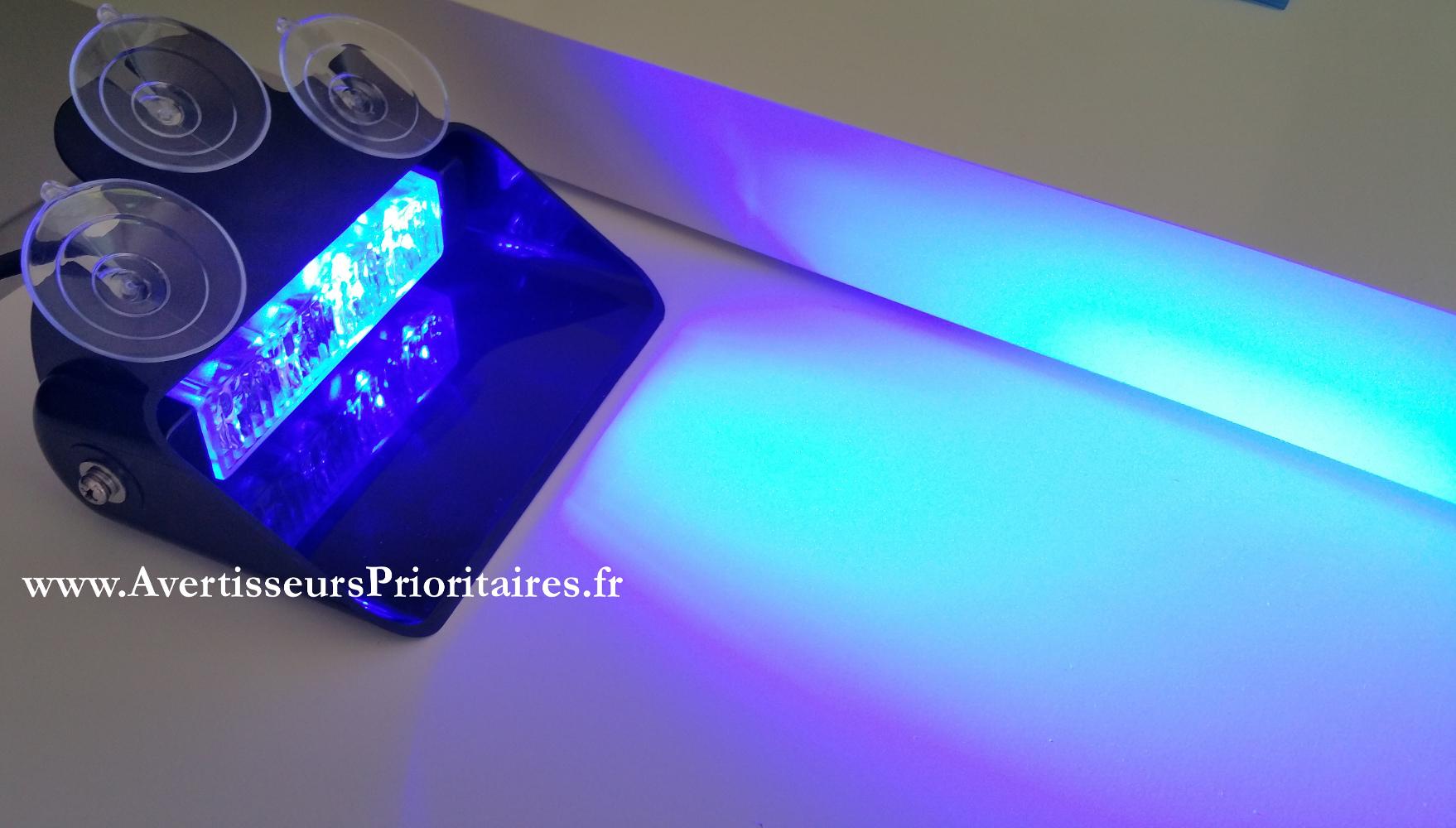 feux pare brise led bleu feu de tableau de bord 99 ttc. Black Bedroom Furniture Sets. Home Design Ideas