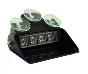 Feu de pare-brise LED à ventouses