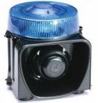 Gyrophare bleu avec sirène intégrée LM500-DP