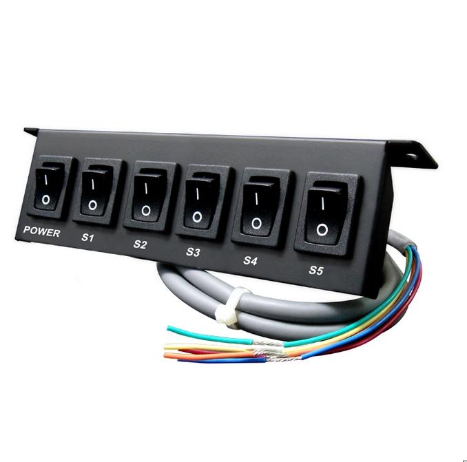 boitier de commande 5 interrupteurs pr feux de p n tration. Black Bedroom Furniture Sets. Home Design Ideas