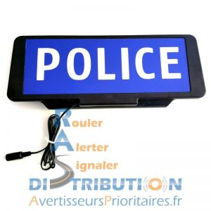 Plaque pare-soleil POLICE lumineuse à LED