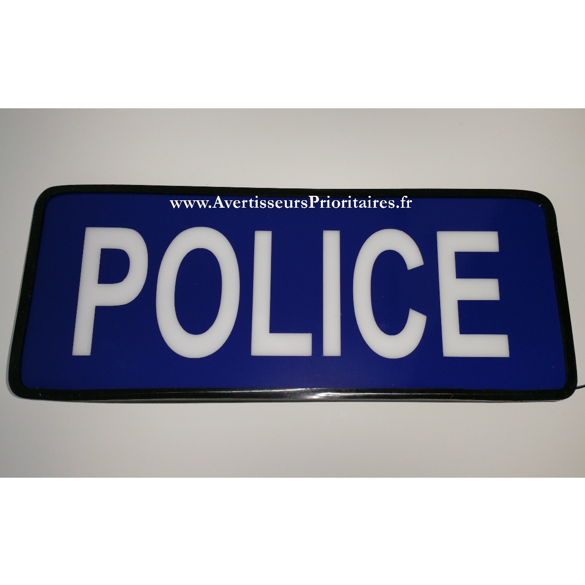 plaque pare soleil lumineuse led police. Black Bedroom Furniture Sets. Home Design Ideas