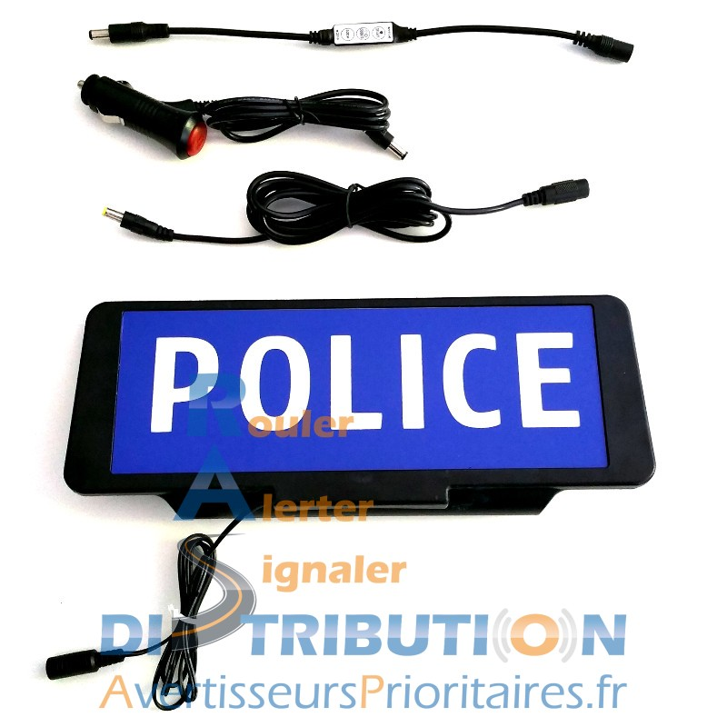 plaque pare soleil police plaque lumineuse led 165. Black Bedroom Furniture Sets. Home Design Ideas