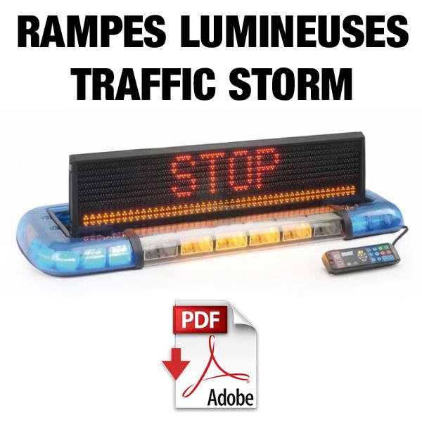 Rampes lumineuses avec panneau à messages variables rabattable Traffic Storm