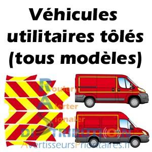 Balisage Pompiers rouge et jaune signalisation pour véhicules utilitaires tôlés