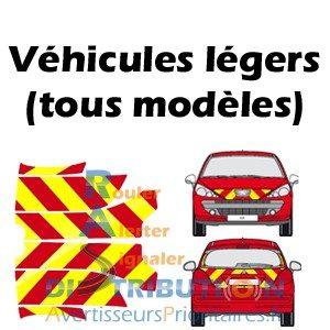 Kit prédécoupé balisage rouge jaune vl Pompiers
