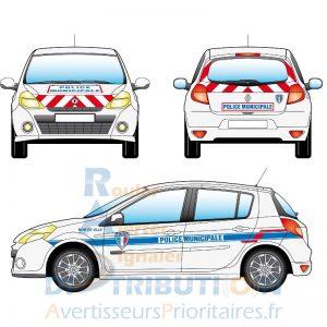 Kit Police Municipale sérigraphie Renault Clio