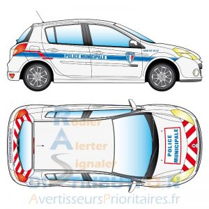 Kit Police Municipale sérigraphie classe B Clio
