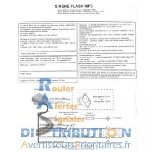 Schéma sirène Flash MP5