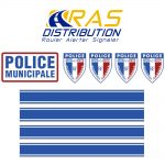 Serigraphie Police Municipale 2 roues kit moto carenee