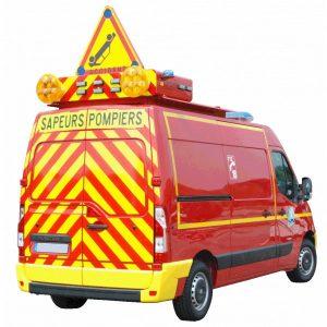 Balisage véhicule Pompiers