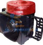 Gyrophare rouge avec sirène intégrée LM500-DP
