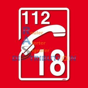 Adhésif Sapeurs-Pompiers pour véhicule Téléphone 18-112