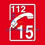 Autocollant Pompier 18 pour véhicule du SDIS