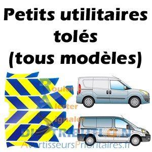 Balisage vehicule Gendarmerie kit prédécoupé Jaune bleu