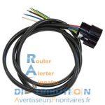 Faisceau avec connecteur Molex pour sirène FIAMM PS10