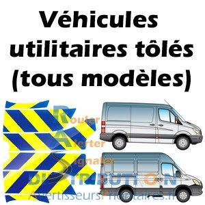 Balisage véhicule de secours jaune bleu