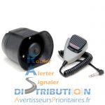 Sirène compacte 12V avec Public Adress WSSC30PA