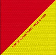 Film rétroréfléchissant rouge jaune Microprismes Classe B