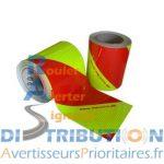 Balisage Jaune Rouge Sapeurs Pompiers 2 rouleaux de 14 cm