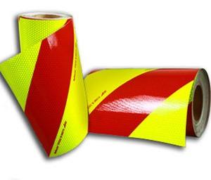 Balisage Jaune Rouge Pompiers kit de 2 rouleaux de 28 cm