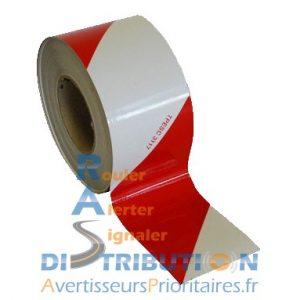 Rouleau de balisage rouge blanc classe A 7 cm
