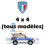 Kit balisage Police Municipale Signalisation pour véhicules 4x4