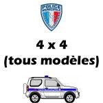 Serigraphie Police Municipale vehicules tout terrain 4x4