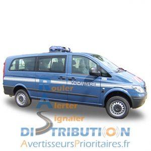 Sérigraphie Gendarmerie véhicule utilitaire Vito