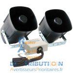 Sirène Ambulance 3 tons - Module FIAMM PS10 et 2 HP FM
