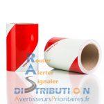 Rouleaux de balisage adhésifs rouge blanc