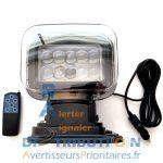 Phare de recherche motorisé à LED 12V
