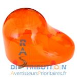 Dôme Gyrophare GDO orange cabochon GDO Valeo