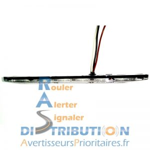 Feu flash LED extra plat bleu ou orange