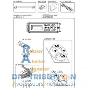 Boitier de commande LCD900 pour LSG900 écran LCD