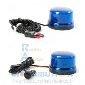 Gyrophrae bleu LED magnétique B16 spiralé ou lisse