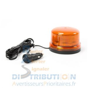 Gyrophare B16 LED orange magnétique câble lisse