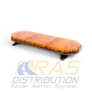 Rampe lumineuse pour vehicule de travaux ou d'intervention RLT-ECO orange 93 cm