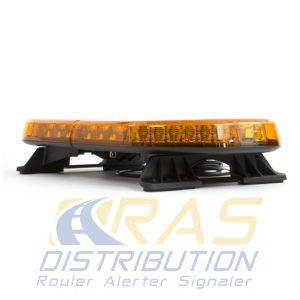 Rampe lumineuse pour vehicule d'intervention RLT-ECO orange 60 cm