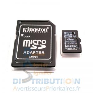 Carte mémoire Micro SD et adaptateur SD pour SAIP