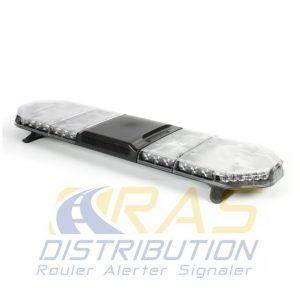 Rampe de gyrophare à LED coiffe incolore 125 cm Legion FIT avec haut-parleur 100W intégré