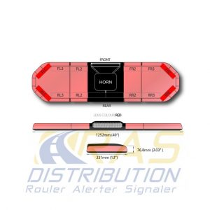 Rampe de gyrophare Legion FIT rouge 125 cm