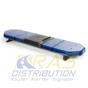 Rampe de gyrophare bleu à LED 125 cm Legion FIT avec haut-parleur 100W intégré