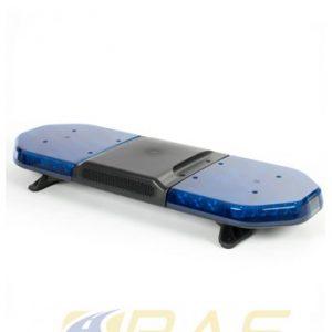 Rampe de gyrophare bleu 93 cm avec haut-parleur 100W intégré