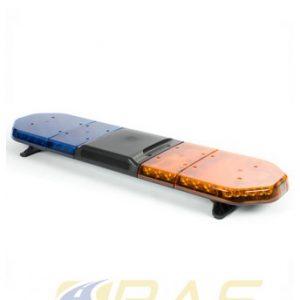 Rampe de gyrophare bleu et orange Legion FIT 125 cm avec haut-parleur 100W intégré