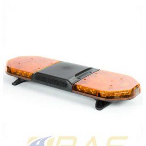 Rampe de gyrophare orange 93 cm avec haut-parleur 100W intégré