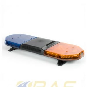 Rampe de gyrophare orange bleu 93 cm avec haut-parleur 100W intégré