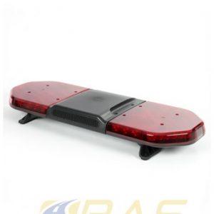 Rampe de gyrophare rouge 93 cm avec haut-parleur 100W intégré