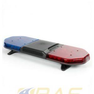 Rampe de gyrophare rouge bleu 93 cm avec haut-parleur 100W intégré