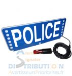 Plaque pare-soleil lumineuse FSX POLICE